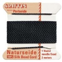 2M Griffin Silk Cord 0.98mm Bead Thread Black Size 12